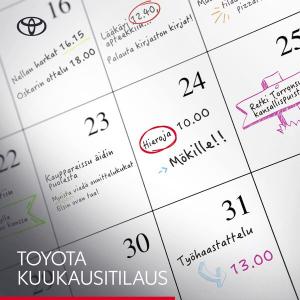 Kun elämä vie, Toyota Kuukausitilaus kuljettaa. Tilaa auto käyttöösi vain 1 kk:n sitoutumisajalla. Kuukausihinta sisältää mm. hu...