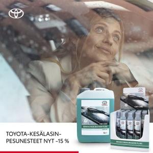 Nauti näköalastasi. Toyotan tehokkaat, biohajoavat lasinpesunesteet nyt hintaan:   ✅ 3 l kanisteri käyttövalmista pesunestettä 3...