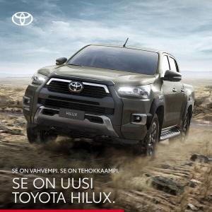 Hilux tehokkaampana kuin koskaan! Uusi 2,8 litran moottori 204 hv:n tehoilla, 500 Nm:n vääntö ja 3500 kg:n vetokyky varmistavat,...
