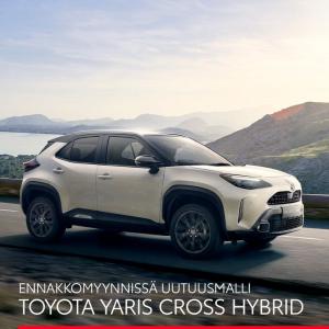 KATUMAASTURIN OLEMUS, KAUPUNKIAUTON KETTERYYS! Täysin uusi Yaris Cross yhdistää kompaktin hybridiauton ja katumaasturin parhaat ...