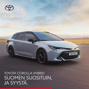Corolla-mallistoon Hybridipaketti 590 €. Sisältää talvirenkaat, tavaratilan suojapohjan ja kumimattosarjan.  Tutustu tästä https...